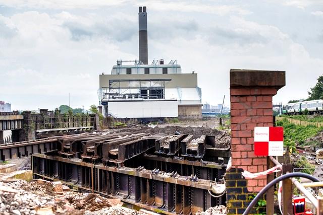 Thameslink (3 of 17): Demolition begins for the Bermondsey Dive Under - this track once carried Thameslink trains towards London Bridge
