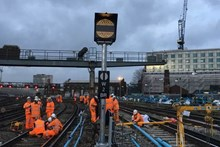 Network Rail's orange army worked around the clock to deliver millions of pounds of upgrades over Christmas