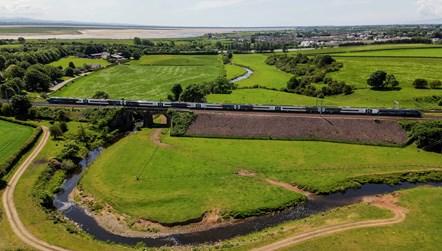 Royal Scot - Drone shot at Gretna