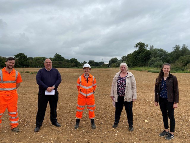 Network Rail transforms Northamptonshire work compound into first habitat to protect wildlife following major railway upgrades
