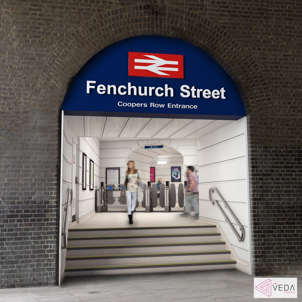 £3.4 million upgrade of Fenchurch Street station begins: Fenchurch St - new entrance