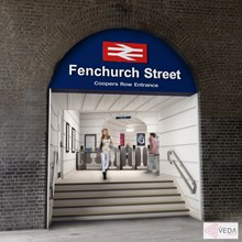 Fenchurch St - new entrance