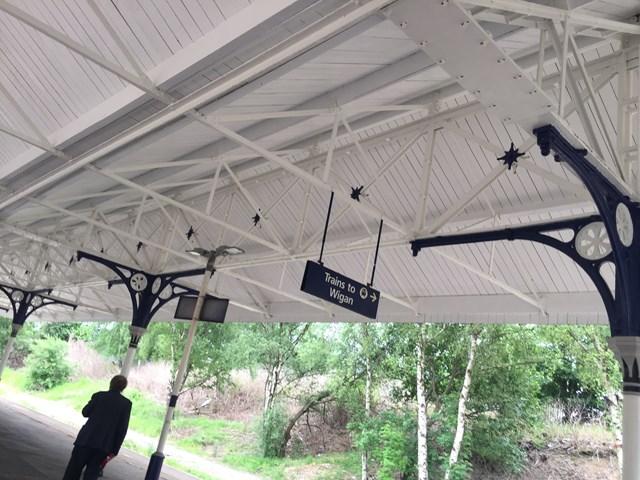 Swinton station canopy June 2021