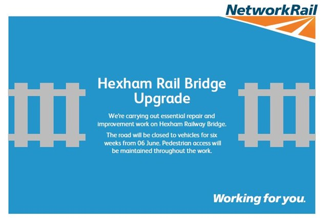 Upgrading Hexham Railway Bridge: Hexham Bridge leaflet cover