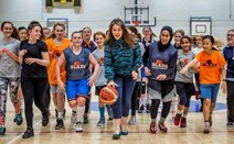Aileen Campbell at Boroughmuir Blaze Basketball Club