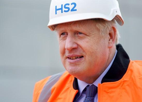 Prime Minister Boris Johnson visits HS2 Interchange Site September 2020: Credit: Pippa Fowles / No10 Downing Street  Prime Minister Boris Johnson visits one of the largest HS2 construction sites, the HS2 Interchange Site, Birmingham. HS2 announce the creation of 22,000 jobs. Picture by Pippa Fowles / No 10 Downing Street Asset No. 18599