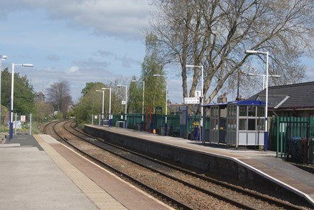 Clitheroe station without train