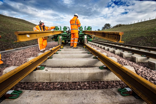 Tender for new £5bn railway track alliances launched: Laying track for the Borders Railway