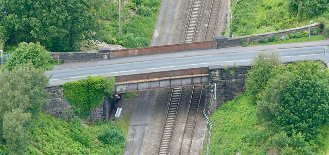 Chorley Lane bridge aerial
