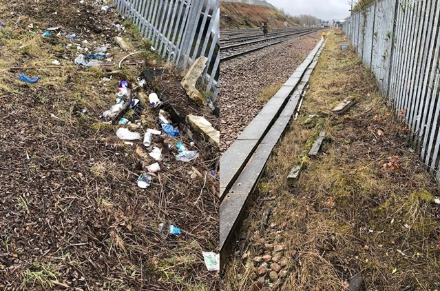Spring clean on track - Network Rail completes tidy up of railway in Derbyshire: Chesterfield before and after 2