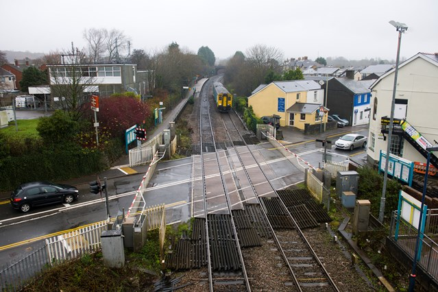 Pencoed Level Crossing closed over Christmas for essential upgrade work: Hendre Road Level Crossing, Pencoed, Bridgend