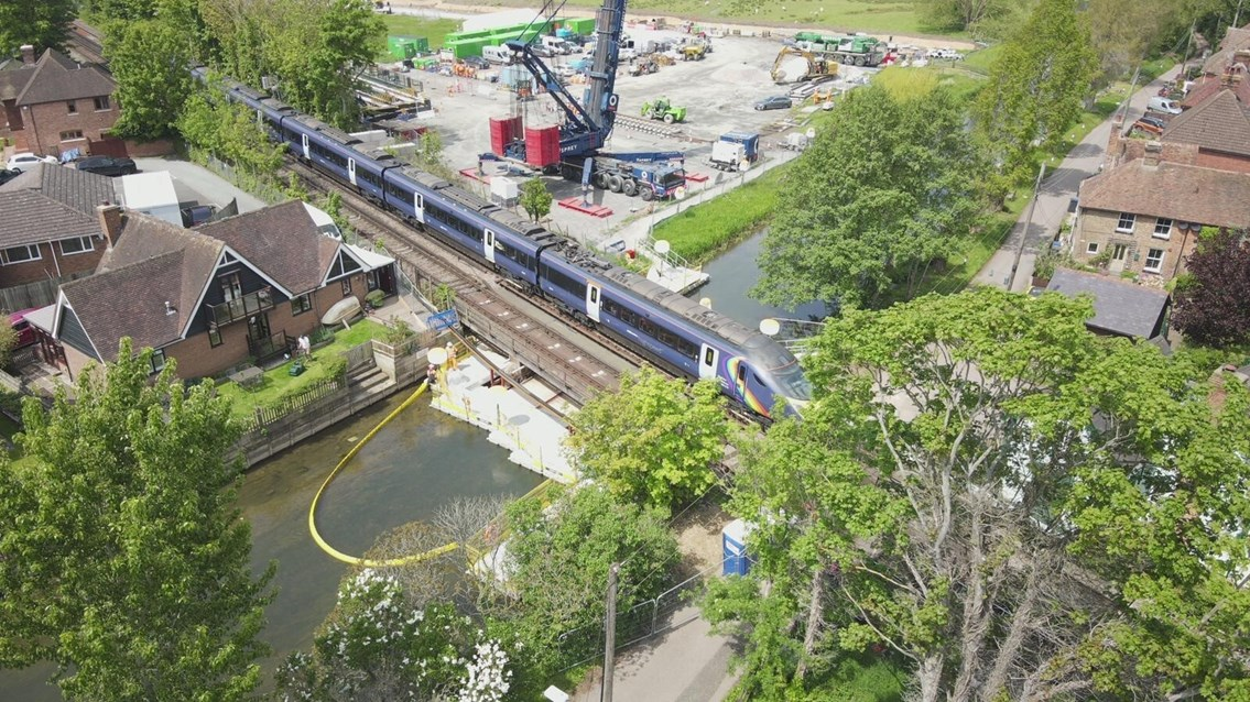 Bank Holiday South East London and Kent works completed on time offering passengers better journeys: River-Stour-Bridge-Replacement- 3