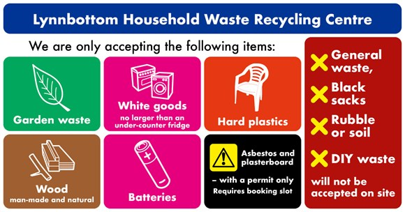 Booking system launched to manage opening the council's recycling centres: Lynbottom SM graphics - April 2020