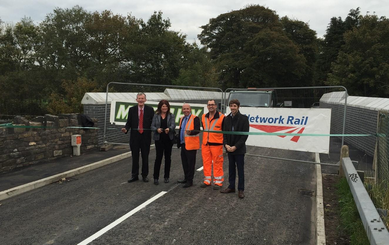 Blackrod railway bridge reopens more than a month early: Grimeford Lane bridge reopening
