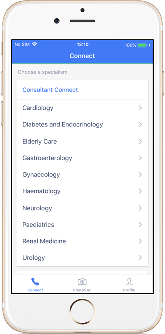 New app to provide specialist advice to GPs in seconds: Consultant Connect App 1[1]