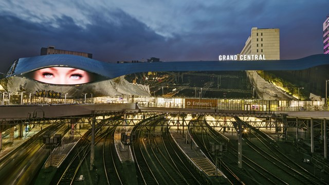 Birmingham New Street climbs busiest station national rankings to fifth place: Birmingham New Street at dusk-2