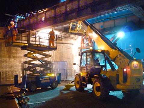 Caversham Road bridge removal 18-09