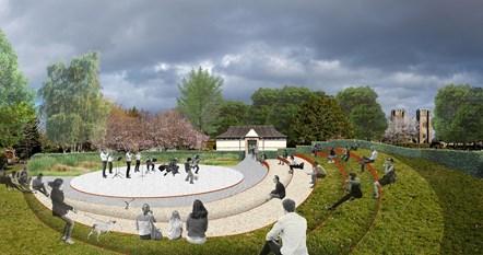 Cooper Park amphitheatre artist impression