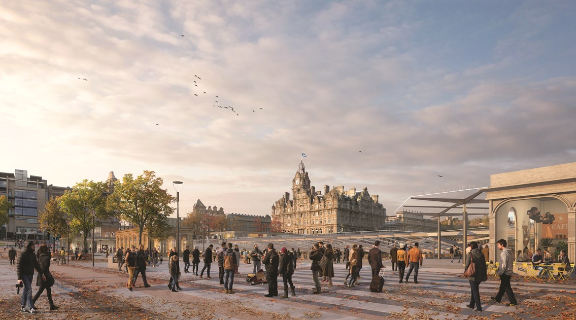 Network Rail awards design contract for Edinburgh Waverley Masterplan: Masterplan Waverley Bridge