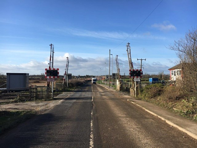 Network Rail begins work to improve three level crossings in Leicestershire: Bardon Hill level crossing
