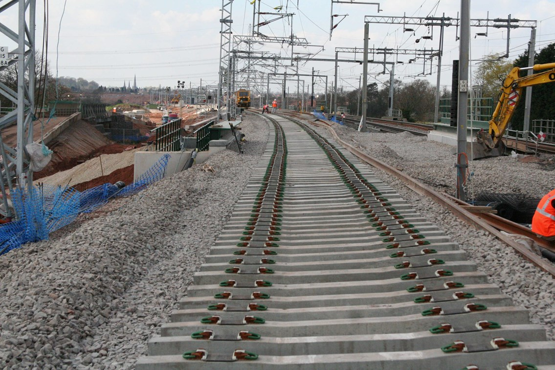 Trent Valley 4 Tracking Project: Trent Valley 4 Tracking - Installation of new track at Huddlesford