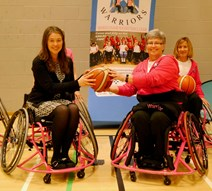 Aileen Campbell joins in wheelchair basketball