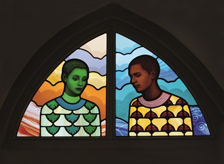 Erlend Tait stained glass An Tobar