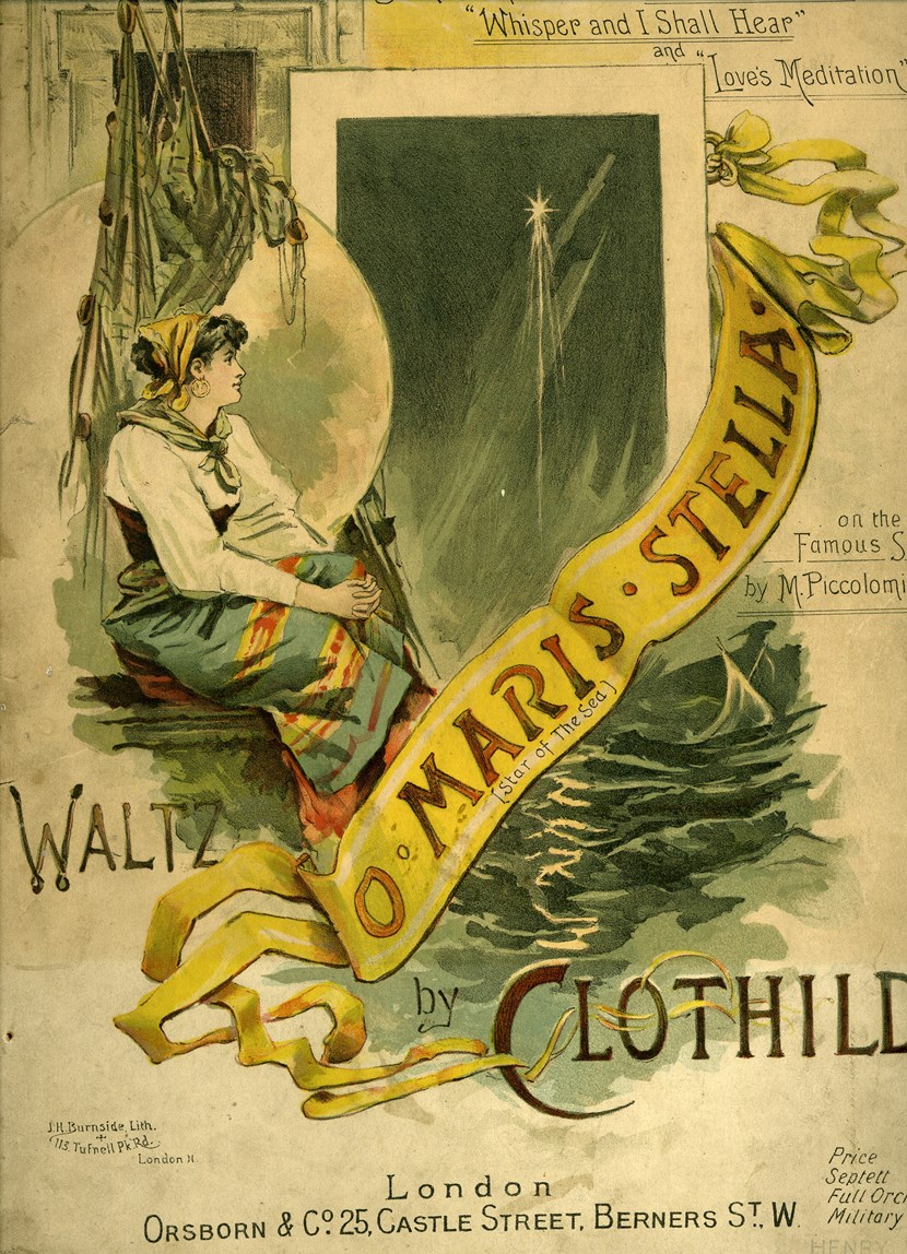 """Work by music's """"forgotten women"""" rediscovered though museum project: Clothilde - O Maris Stella 1896"""