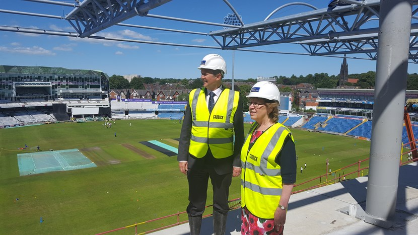 Exciting redevelopment work at Emerald Headingley Stadium continues at a pace: 20180622-145429.jpg