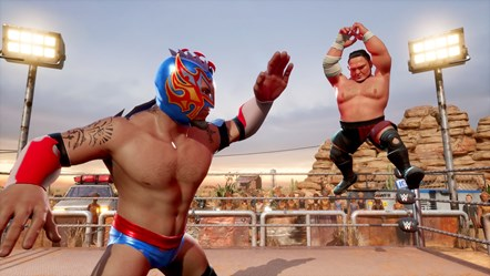 WWE2K BG Kalisto vs Samoa Joe