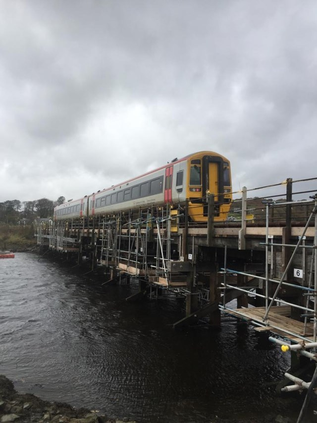 Passengers thanked as railway reopens between Barmouth and Pwllheli: River Artro 11.11.19