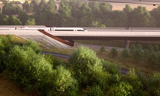 Small Dean Viaduct: CGI of the Small Dean Viaduct