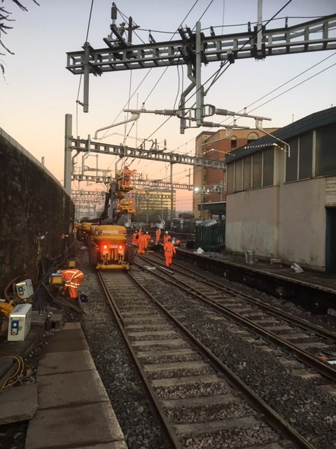 Network Rail thanks passengers and local communities in South Wales as rail upgrade work completes: Newport track 8