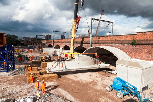 Transformation of train services across the north: Work continued on Ordsall Chord in Manchester – June 2016