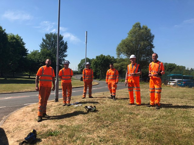 The Network Rail and contractors from EA Formby who finally found Rover