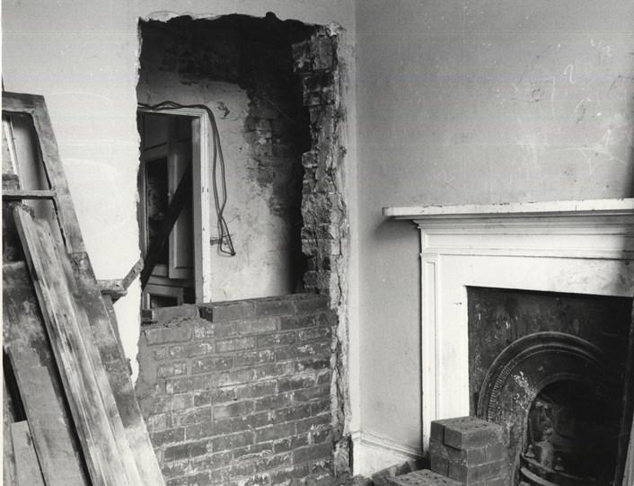 Door to servants'quarters being bricked up - MM Office