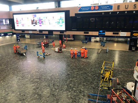 Euston Station work