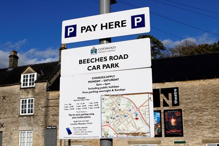 Parking sign Cotswold