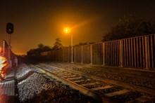 Upgraded railway near Bladon Close, Wolvercote, Oxford