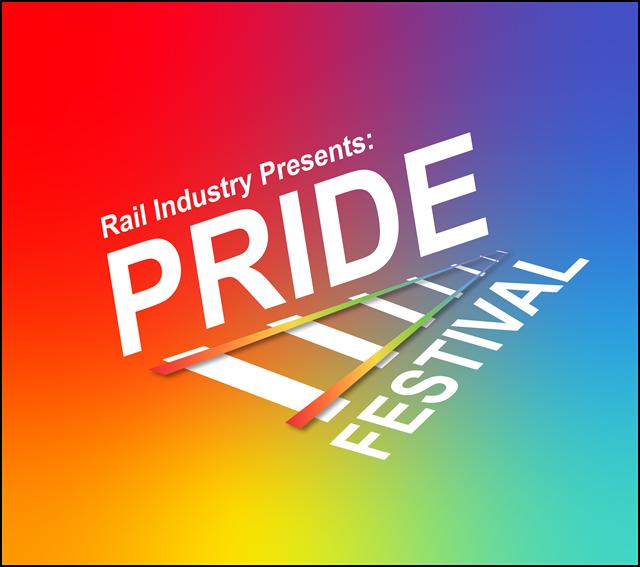 Rail pride festival logo