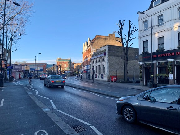 TfL Image -  Current view along Peckham High Street towards Bellenden Road