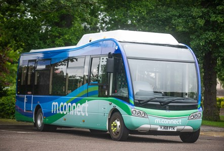 Moray Council's existing electric bus