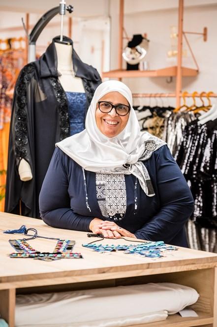Designer-maker Majida Sayam of Jannaty at FC Designer Collective