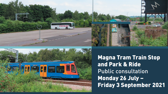 Public consultation launches for new Tram Train stop and Park & Ride: Magna Tram Train stop consultation begins