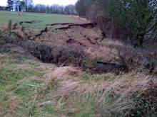 The landslip at Farnley Haugh, near Hexham in Northumberland-2