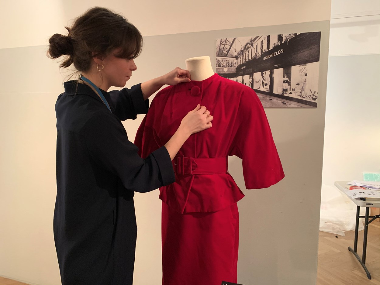 Fast x Slow Fashion: Vanessa Jones, curator of costume and textiles, works on the Fast x Slow Fashion exhibition at Leeds City Museum.