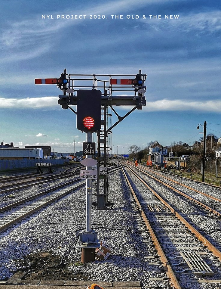 New signalling system introduced on the Wherry lines: Lowestoft Old and new signals and track