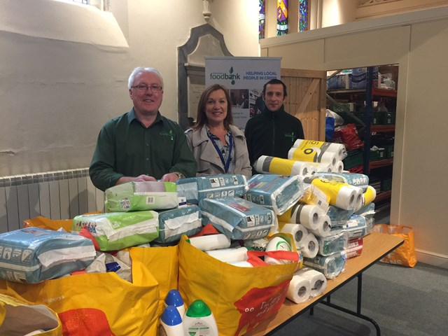 Network Rail workers give boost to Doncaster Foodbank