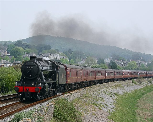 Steam train celebrates reopening of Conwy Valley line: Steam Train - Phil Metcalfe