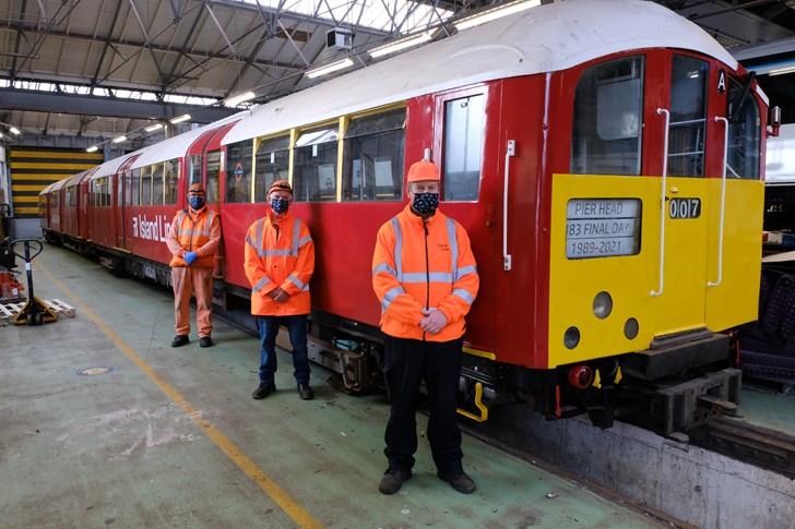 The Class 483's last maintenance fitters say goodbye to the train today